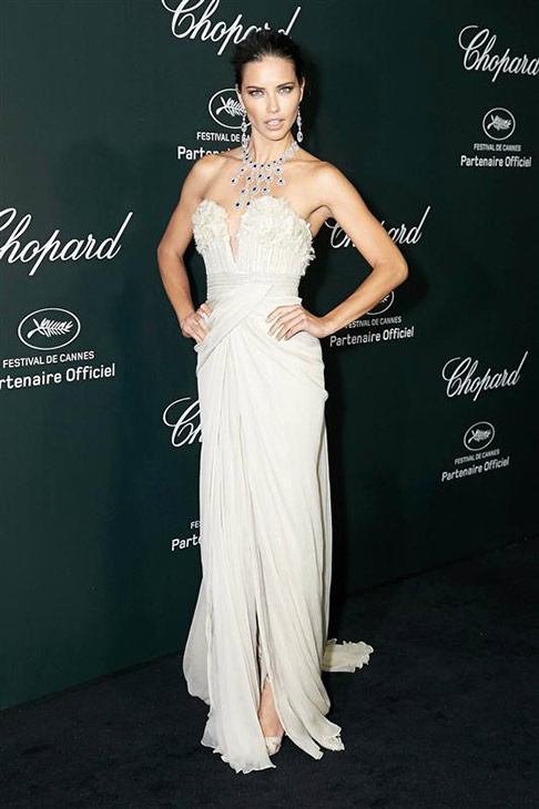 Victoria&#39;s Secret Angel Adriana Lima appears at a Chopard party at the Cannes Film Festival in France on May 20, 2014. <span class=meta>(Alexander Tuma &#47; Startraksphoto.com)</span>