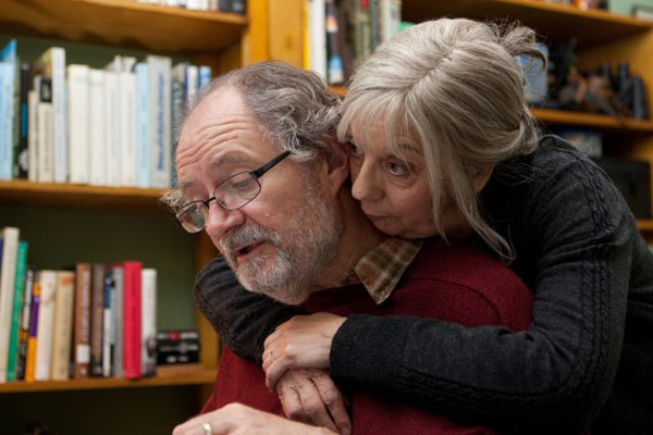 Jim Broadbent and Ruth Sheen in a still from...