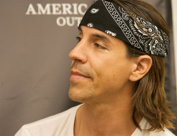 Anthony Kiedis appears at the New American Music Union press conference on August 9, 2008.