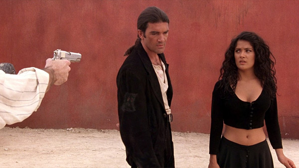 Salma Hayek and Antonio Banderas appear in a scene from Robert Rodriguez's 1995 movie 'Desperado.'
