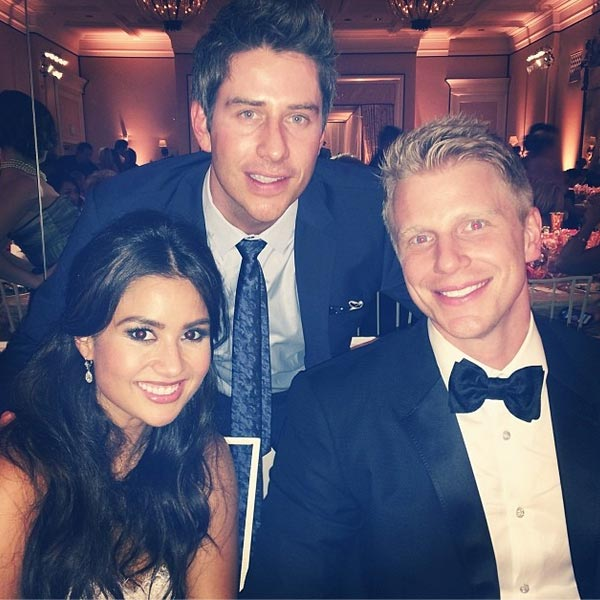 &#39;The Bachelorette&#39; season 8 contestant Arie Luyendyk Jr. posted this Instagram photo of himself with newlyweds and &#39;The Bachelor&#39; season 17 stars Sean Lowe and Catherine Giudici at their wedding on Jan. 26, 2014.  &#39;Mr. and Mrs. Lowe!,&#39; said.  The event aired live on ABC from the Four Seasons Biltmore hotel in Santa Barbara, CA. <span class=meta>(instagram.com&#47;p&#47;jqV7YzltiA&#47; &#47; instagram.com&#47;ariejr)</span>