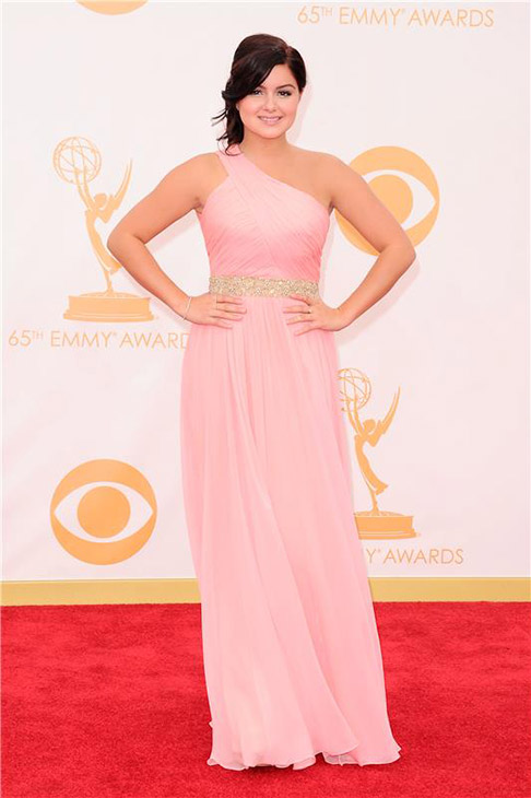 Ariel Winter ('Modern Family') walks the red carpet at the 2013 Primetime Emmy Awards at the Nokia Theatre L.A. Live in Los Angeles on Sept. 22, 2013.