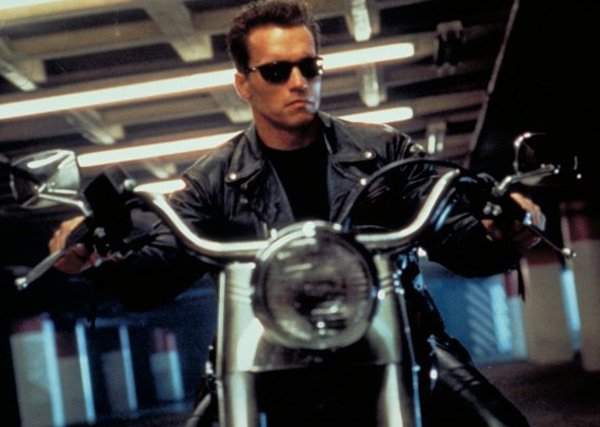 Arnold Schwarzenegger appears in a scene from the 1991 film 'Terminator 2: Judgment Day.'