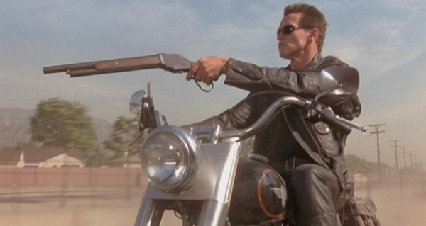 "<div class=""meta ""><span class=""caption-text "">'I need your clothes, boots, and your motorcycle.' - Arnold Schwarzenegger's character The Terminator, a cyborg who must find a way to stop a more powerful Terminator, says to Cigar Bike in the 1991 movie 'Terminator 2: Judgment Day.' (Carlco Pictures)</span></div>"
