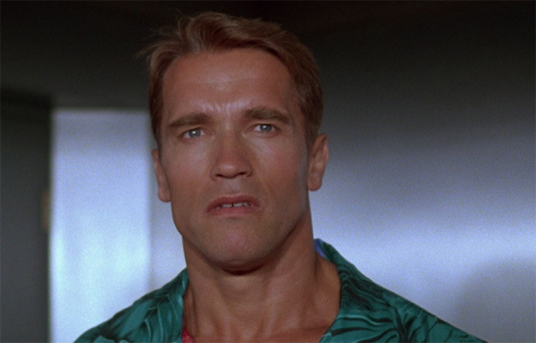 Arnold Schwarzenegger appears in a scene from the 1987 film 'The Running Man.'