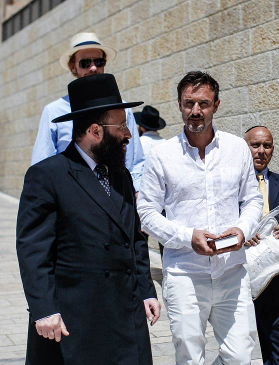 David Arquette celebrates his bar mitzvah at the Western Wall, the holiest prayer sitein Judaism, in Jerusalem's Old City on Monday, June 11, 2012.