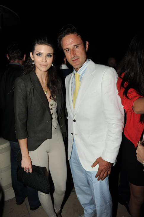 AnnaLynne McCord from '90210' and actor David Arquette appear at an intimate cocktail party to celebrate the launch of the Joseph Abboud watch collection at the Sunset Tower Hotel in Los Angeles on Thursday, June 16, 2011.