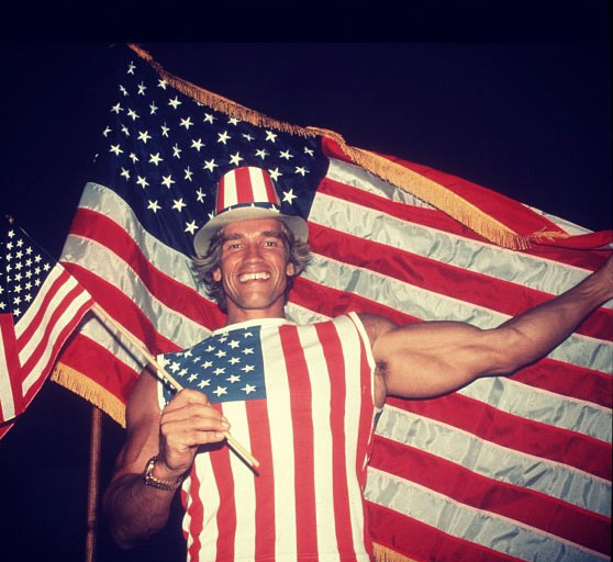Arnold Schwarzenegger posted this 1983 photo just before Barack Obama was re-elected, on Nov. 6, 2012.