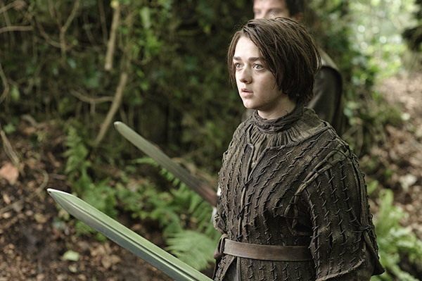 "<div class=""meta ""><span class=""caption-text "">Maisie Williams appears as Arya Stark  in a scene from season 3 of the HBO show 'Game of Thrones.' (Helen Sloan / HBO)</span></div>"