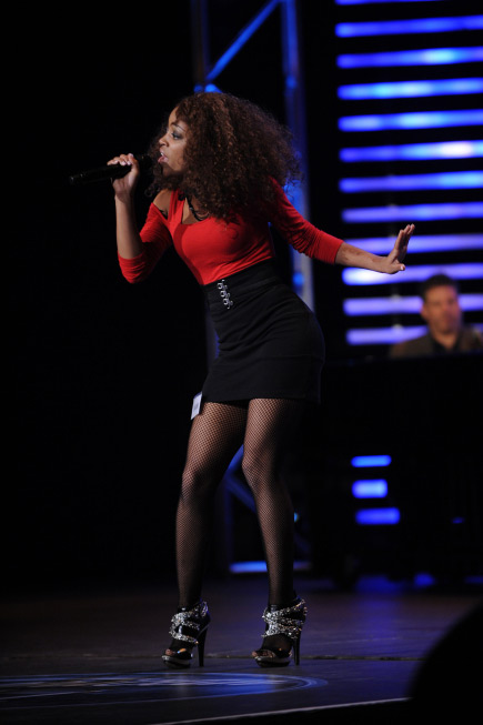 Ashthon Jones, a 24-year-old from Nashville, TN, was made an &#39;American Idol&#39; Top 24 finalist. &#40;Pictured: Ashthon Jones performs in front of the judges on &#39;American Idol&#39; on an episode that aired on Feb. 17, 2011.&#41; <span class=meta>(Michael Becker &#47; FOX)</span>