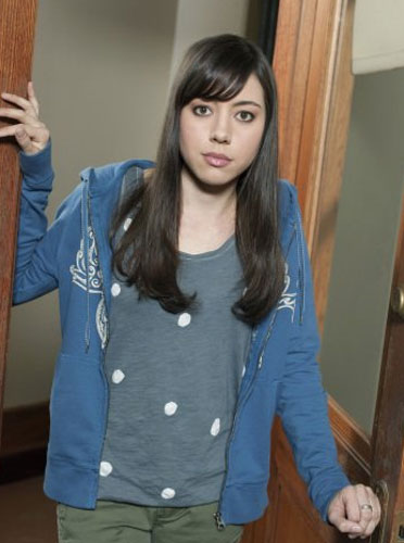 Aubrey Plaza appears in a scene from the show 'Parks and Recreation' in 2011.