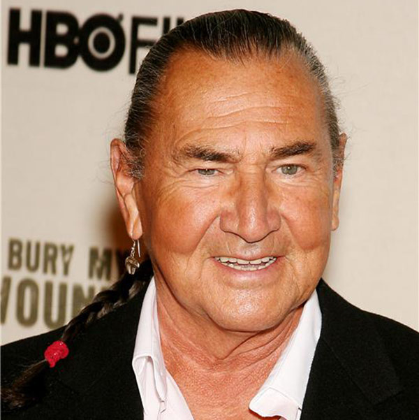 August Schellenberg attends the premiere of the HBO film 'Bury My Heart At Wounded Knee' in New York on May 23, 2007.