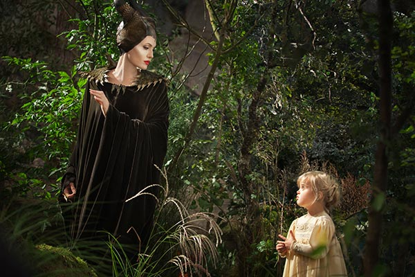 Angelina Jolie appears as Maleficent and her and Brad Pitt&#39;s daughter Vivienne appears as Princess Aurora in a scene from the 2014 Disney film &#39;Maleficent.&#39; <span class=meta>(Walt Disney Studios)</span>