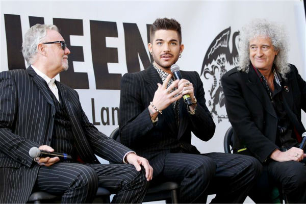 "<div class=""meta image-caption""><div class=""origin-logo origin-image ""><span></span></div><span class=""caption-text"">Adam Lambert appears with Queen members Brian May and Roger Taylor at a press conference at New York City's Madison Square Garden on March 6, 2014, in which they announced a summer North American tour. (Mario Curtis / Startraksphoto.com)</span></div>"