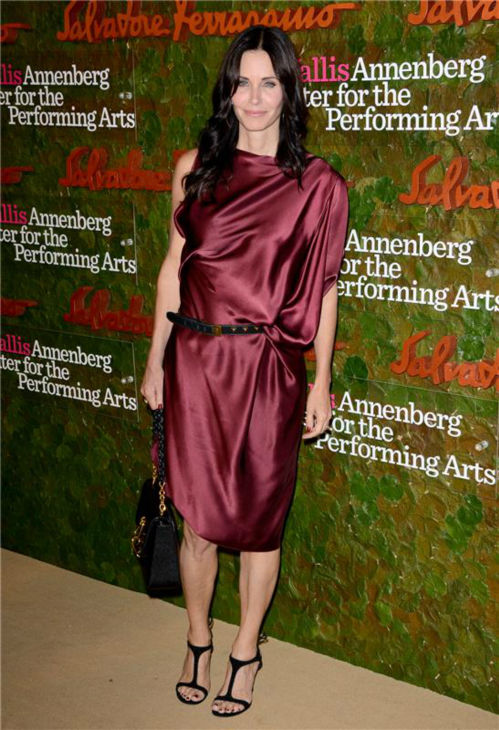Courtney Cox attends the Wallis Annenberg Center for the Performing Arts Inaugural Gala, presented by Salvatore Ferragamo, at the Wallis Annenberg Center in Beverly Hills on Oct. 17, 2013. <span class=meta>(Lionel Hahn &#47; AbacaUSA &#47; Startraksphoto.com)</span>