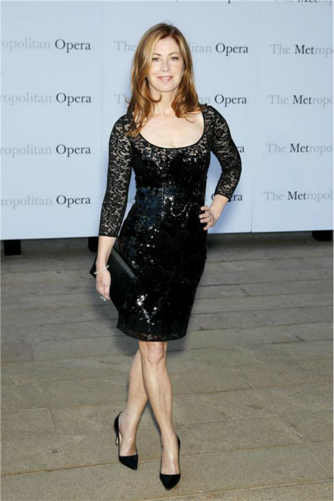 Dana Delany attends the New York Metropolitan Opera's season opening performance Of Tchaikovsky's 'Eugene Onegin' on Sept. 23, 2013.