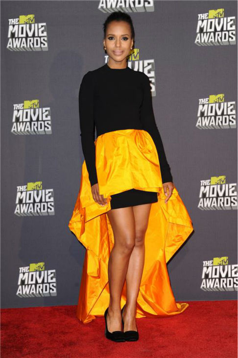 Kerry Washington attends the 2013 MTV Movie Awards in Culver City, California on April 14, 2013. <span class=meta>(Kyle Rover &#47; Startraksphotos.com)</span>