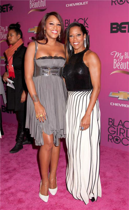 "<div class=""meta ""><span class=""caption-text "">Eve and Regina King appear at BET's 2013 Black Girls Rock event in New York on Oct. 26, 2013. (Marcus Owen / Startraksphoto.com)</span></div>"