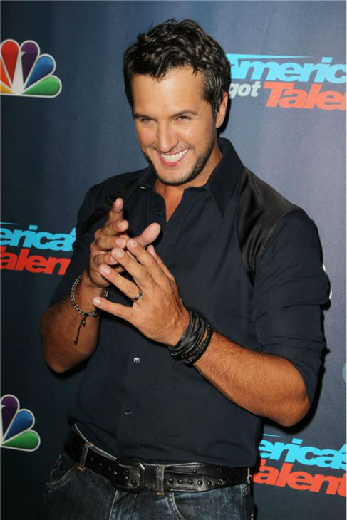 Country singer Luke Bryan poses on the red carpet after the season 8 finale of &#39;America&#39;s Got Talent&#39; at Radio City Music Hall in New York on Sept. 18, 2013. <span class=meta>(Amanda Schwab &#47; Startraksphoto.com)</span>