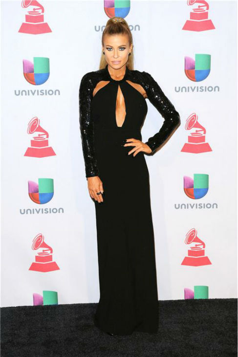 Carmen Electra arrives at the 2013 Latin Grammy Awards at the Mandalay Bay Hotel and Casino in Las Vegas on Nov. 21, 2013.