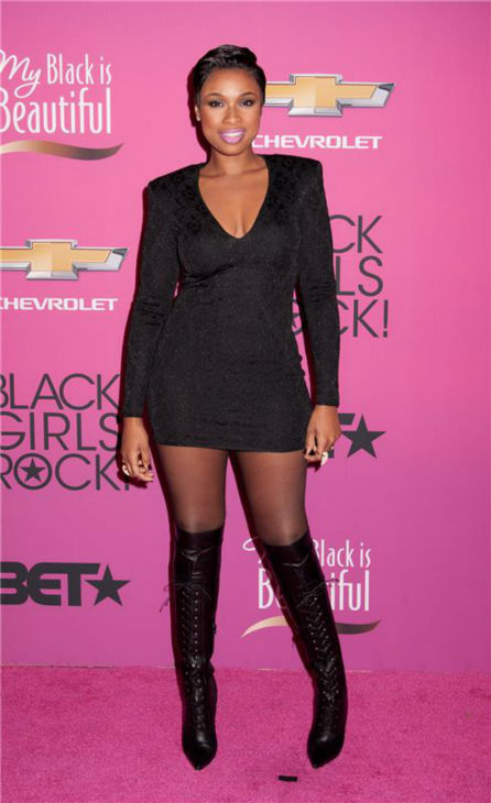 Jennifer Hudson debuts a short hairstyle at BET's 2013 Black Girls Rock event at the