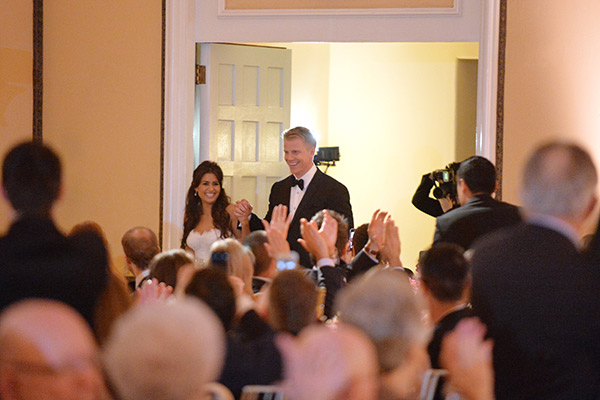 &#39;The Bachelor&#39; season 17 stars Sean Lowe and Catherine Giudici appear at their wedding reception on Jan. 26, 2014.  The event aired live on ABC from the Four Seasons Biltmore hotel in Santa Barbara, CA. <span class=meta>(ABC Photo &#47; Todd Wawrychuk)</span>