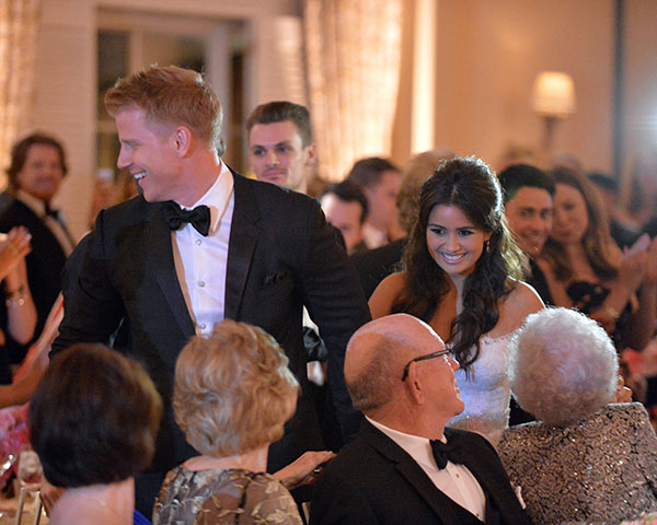 "<div class=""meta image-caption""><div class=""origin-logo origin-image ""><span></span></div><span class=""caption-text"">'The Bachelor' season 17 stars Sean Lowe and Catherine Giudici appear at their wedding reception on Jan. 26, 2014.  The event aired live on ABC from the Four Seasons Biltmore hotel in Santa Barbara, CA. (ABC Photo / Todd Wawrychuk)</span></div>"