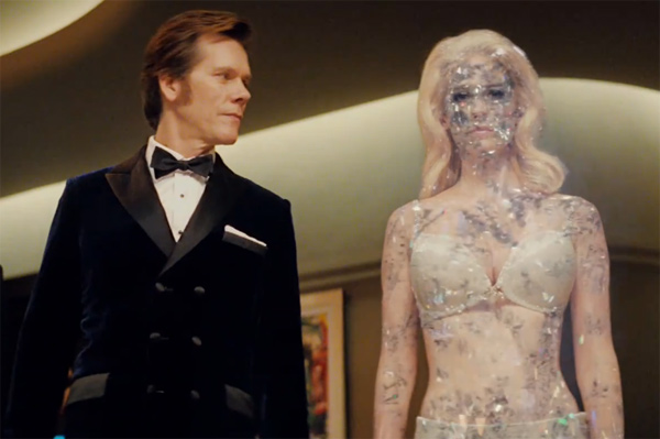 Kevin Bacon (Sebastian Shaw) and January Jones (Emma Frost) appear in a scene from 'X-Men: First Class.'
