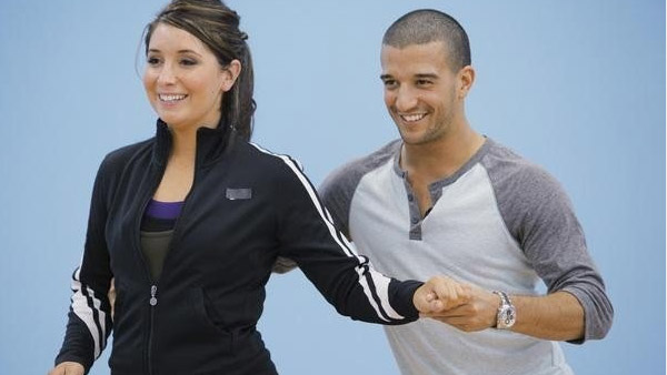 Mark Ballas appears in a scene from the eleventh season of 'Dancing With The Stars' with partner Bristol Palin.