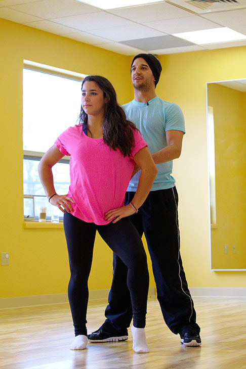 'Dancing With The Stars' season 16 cast members Alexandra Raisman (also known as Aly) and Mark Ballas rehearse ahead of the premiere on March 18, 2013.