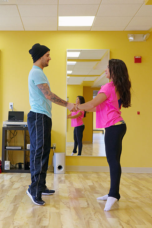 &#39;Dancing With The Stars&#39; season 16 cast members Alexandra Raisman &#40;also known as Aly&#41; and Mark Ballas rehearse ahead of the premiere on March 18, 2013. <span class=meta>(ABC Photo &#47; Claire Folger)</span>