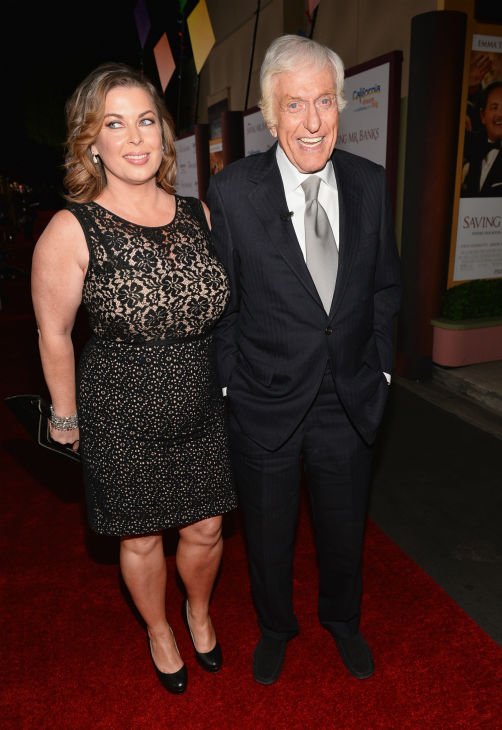 Dick Van Dyke, who played Bert in Disney's 1964 musical film 'Mary Poppins,' and wife Arlene Silver attend the premiere of 'Saving Mr. Banks' on Dec. 9, 2013.