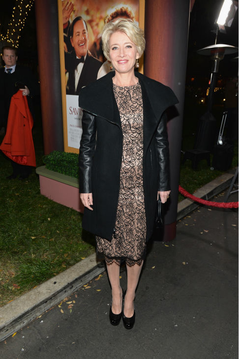 "<div class=""meta ""><span class=""caption-text "">Emma Thompson, 54, attends the premiere of 'Saving Mr. Banks' at the Walt Disney Studios in Burbank, California on Dec. 9, 2013. In the film, which is based on true events, she plays P.L. Travers, author of 'Mary Poppins.' Tom Hanks plays Walt Disney, who convinces her character to allow her story to be made into a film -- one that would become one of the world's favorites. (Alberto E. Rodriguez / WireImage for Walt Disney Studios)</span></div>"
