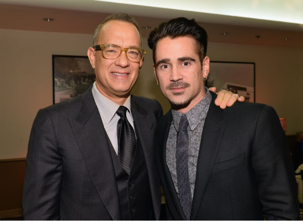 Tom Hanks, 57, and Colin Farrell, 37, appear at the premiere of &#39;Saving Mr. Banks&#39; at the Walt Disney Studios in Burbank, California on Dec. 9, 2013. In the film, he plays Walt Disney, who convinced P.L. Travers, the author of &#39;Mary Poppins,&#39; to allow her story to be made into a film -- one that would become one of the world&#39;s favorites. Farrell plays Travers&#39; father. <span class=meta>(Alberto E. Rodriguez &#47; WireImage for Walt Disney Studios)</span>
