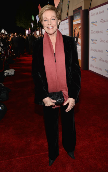&#39;Mary Poppins&#39; star Julie Andrews, 78, appears at the premiere of &#39;Saving Mr. Banks,&#39; which depicts how Walt Disney, played by Tom Hanks, brought the former film to life. The event took place at the Walt Disney Studios in Burbank, California on Dec. 9., 2013. <span class=meta>(Alberto E. Rodriguez &#47; WireImage for Walt Disney Studios)</span>