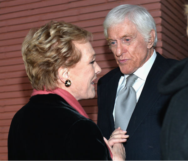 'Mary Poppins' stars Dick Van Dyke, who turns 88 on Dec. 13, 2013 and Julie Andrews, 78, attend the premiere of 'Saving Mr. Banks' on Dec. 9, 2013.