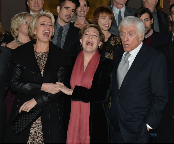 Emma Thompson, 54 and &#39;Mary Poppins&#39; stars Julie Andrews, 78, and Dick Van Dyke, who turns 88 on Dec. 13, 2013, attend the premiere of &#39;Saving Mr. Banks,&#39; which depicts how Walt Disney, played by Tom Hanks, brought the former film to life. The event took place at the Walt Disney Studios in Burbank, California on Dec. 9, 2013. <span class=meta>(Alberto E. Rodriguez &#47; WireImage for Walt Disney Studios)</span>