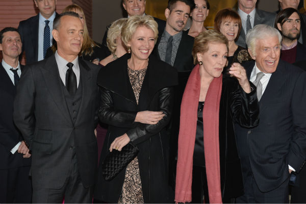 "<div class=""meta ""><span class=""caption-text "">Tom Hanks, 57, Emma Thompson, 54, and 'Mary Poppins' stars Julie Andrews, 78, and Dick Van Dyke, who turns 88 on Dec. 13, 2013, appear at the premiere of 'Saving Mr. Banks,' which depicts how Walt Disney, played by Hanks, brought the former film to life. The event took place at the Walt Disney Studios in Burbank, California on Dec. 9.    Actors Colin Farrell, actress Julie Andrews, actress Annie Rose Buckley and actor Dick Van Dyke attend the U.S. Premiere Of Disney's ""Saving Mr. Banks"" at Walt Disney Studios on December 9, 2013 in Burbank, California.  (Photo by Jason Merritt/WireImage) *** Local Caption *** Colin Farrell;Julie Andrews;Annie Rose Buckley;Dick Van Dyke (Alberto E. Rodriguez / WireImage for Walt Disney Studios)</span></div>"