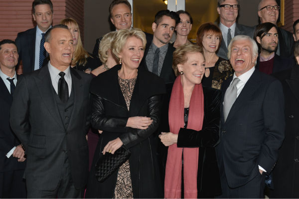 Tom Hanks, 57, Emma Thompson, 54 and &#39;Mary Poppins&#39; stars Julie Andrews, 78, and Dick Van Dyke, who turns 88 on Dec. 13, 2013, attend the premiere of &#39;Saving Mr. Banks,&#39; which depicts how Walt Disney, played by Tom Hanks, brought the former film to life. The event took place at the Walt Disney Studios in Burbank, California on Dec. 9, 2013. <span class=meta>(Alberto E. Rodriguez &#47; WireImage for Walt Disney Studios)</span>