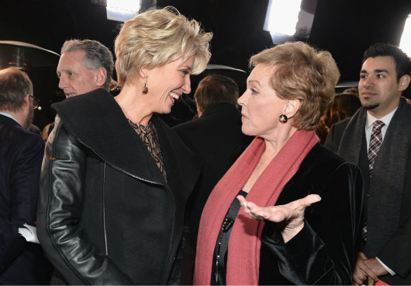 Emma Thompson, 54 and &#39;Mary Poppins&#39; star Julie Andrews, 78, attend the premiere of &#39;Saving Mr. Banks,&#39;  <span class=meta>(Alberto E. Rodriguez &#47; WireImage for Walt Disney Studios)</span>