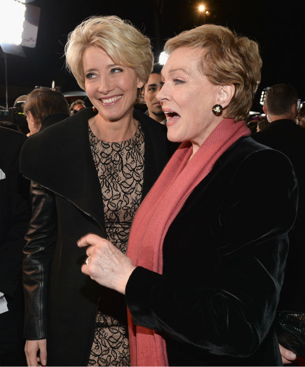 "<div class=""meta ""><span class=""caption-text "">'Mary Poppins' star Julie Andrews, 78, and Emma Thompson, 54, appear at the premiere of 'Saving Mr. Banks' at the Walt Disney Studios in Burbank, California on Dec. 9, 2013. In the film, Tom Hanks plays Walt Disney, who convinced Thompson's character P.L. Travers, the author of 'Mary Poppins,' to allow her story to be made into a film -- one that would become one of the world's favorites. (Alberto E. Rodriguez / WireImage for Walt Disney Studios)</span></div>"