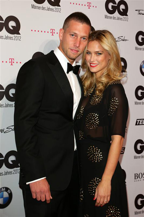 Israeli supermodel Bar Refaeli appears with brother Dor Refaeli at the 2012 GQ Man of the Year Awards in Berlin, Germany on Oct. 26, 2012. <span class=meta>(James Coldrey &#47; Action Press &#47; Startraksphoto.com)</span>