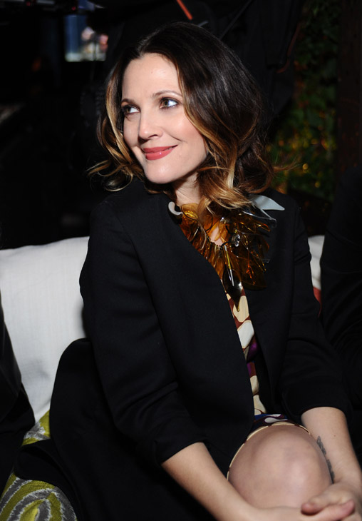 "<div class=""meta ""><span class=""caption-text "">Drew Barrymore appears at the launch party for H and M's Marni collection in Los Angeles on Feb. 17, 2012. She is wearing an outfit from the fashion line. (H and M / Marni)</span></div>"