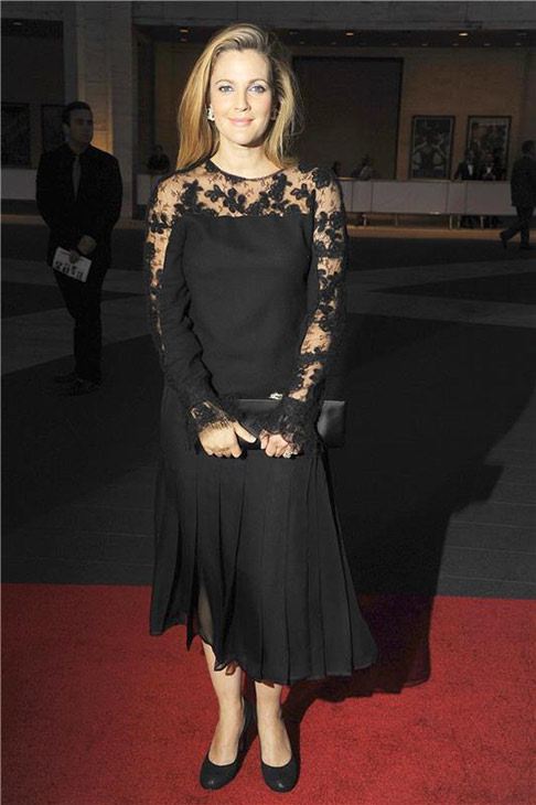 "<div class=""meta ""><span class=""caption-text "">Drew Barrymore attends the New York City Ballet 2013 Fall Gala at the David H. Koch Theater at Lincoln Center in New York on Sept. 19, 2013. (Humberto Carreno / Startraksphotos.com)</span></div>"