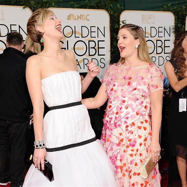 "<div class=""meta ""><span class=""caption-text "">We love Drew Barrymore because she makes Jennifer Lawrence laugh, allowing for this picture to happen. (Pictured: Drew Barrymore appears with Jennifer Lawrence at the 2014 Golden Globe Awards in Beverly Hills, California on Jan. 12, 2014.) (Sara De Boer / Startraksphoto.com)</span></div>"