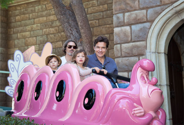Jason Bateman and daughter Francesca, 5, ride...