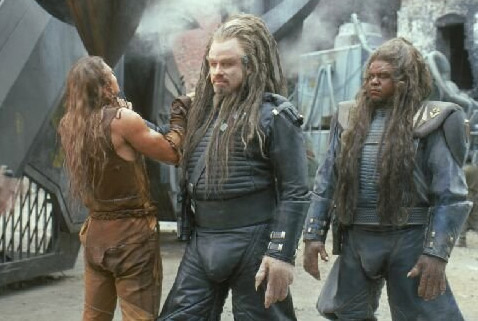 The science fiction movie &#39;Battlefield Earth: A Saga of the Year 3000,&#39; which starred John Travolta and Oscar winner Forest Whitaker and was based on a book by Scientology founder L. Ron Hubbard, received the Razzie for Worst Picture of 2000. <span class=meta>(Warner Bros. Pictures)</span>