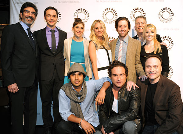 "<div class=""meta image-caption""><div class=""origin-logo origin-image ""><span></span></div><span class=""caption-text"">The cast and showrunners of 'The Big Bang Theory' attend the Paley Center for Media's PaleyFest honoring the CBS show at the Saban Theatre, courtesy of Samsung Galaxy, on Wednesday, March 13, 2013 in Los Angeles. Pictured L to R: Top: Creator Chuck Lorre, Jim Parsons, Mayim Bialik, Kaley Cuoco, Simon Helberg, Executive Producer Bill Prady and Melissa Rauch. Bottom: Kunal Nayyar, Johnny Galecki and Executive Producer Steven Molaro. (Kevin Parry for Paley Center for Media)</span></div>"