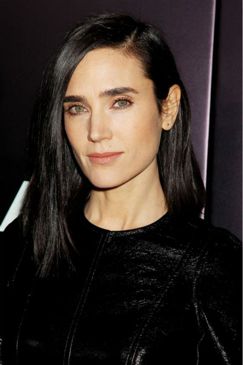 Jennifer Connelly appears at the premiere of &#39;Noah&#39; in New York on March 26, 2014. The actress, who is wearing a custom-made Louis Vuitton leather and yellow tweed mini-dress, plays Noah&#39;s wife, Naameh, in Darren Aronofsky&#39;s movie. <span class=meta>(Dave Allocca &#47; Startraksphoto.com)</span>