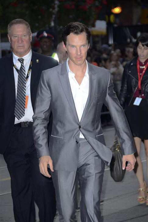 "<div class=""meta ""><span class=""caption-text "">Benedict Cumberbatch appears at the premiere of '12 Years A Slave' premiere at the 2013 Toronto International Film Festival  on Sept. 6, 2013. (Christian Lapid / Startraksphoto.com)</span></div>"